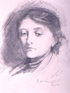 Mary Greg aged 36 by Hubert Herkomer, 1885