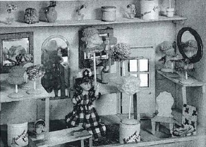 Milliner's shop. Given to Bethnal Green by Mary in 1925