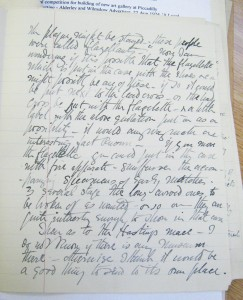 archive letter detailing the story of the lead cross