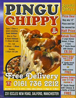 Pigu Chippy Take Away menu