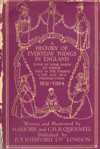 Cover of A History of Everyday Things in England by Marjorie and CHB Quennell